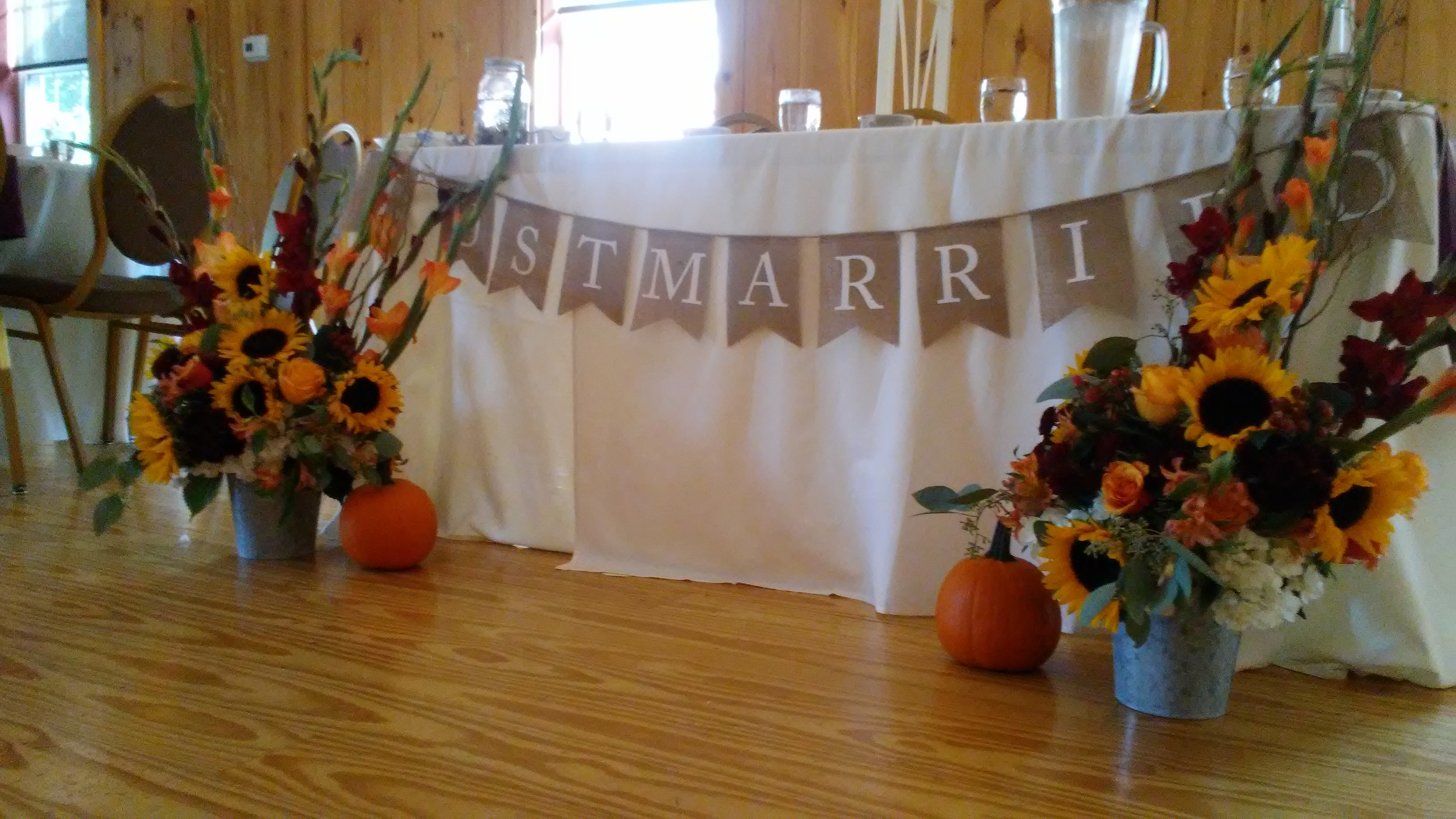 wedding decorations at The 228