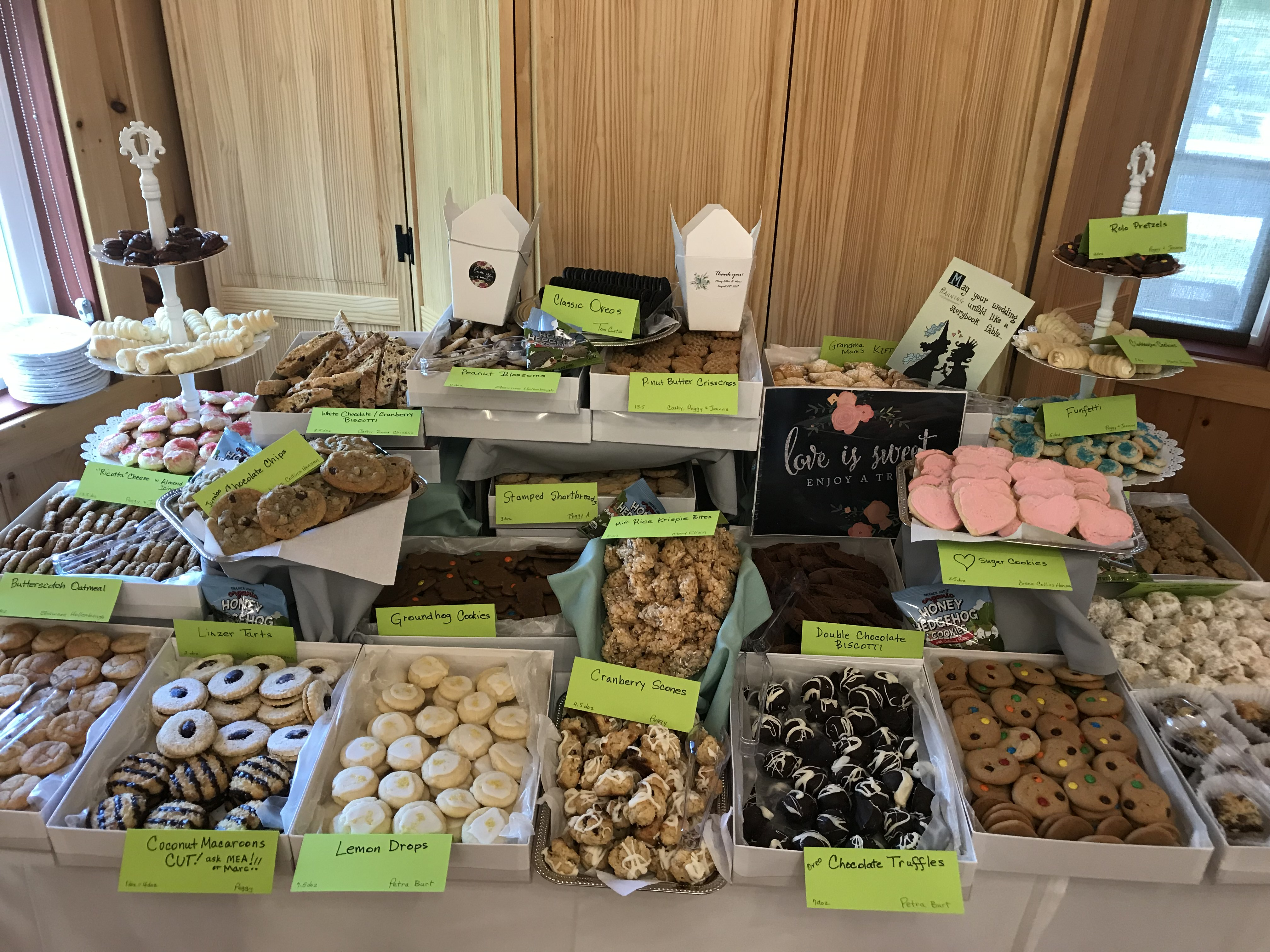 cookie bar at a wedding at The 228