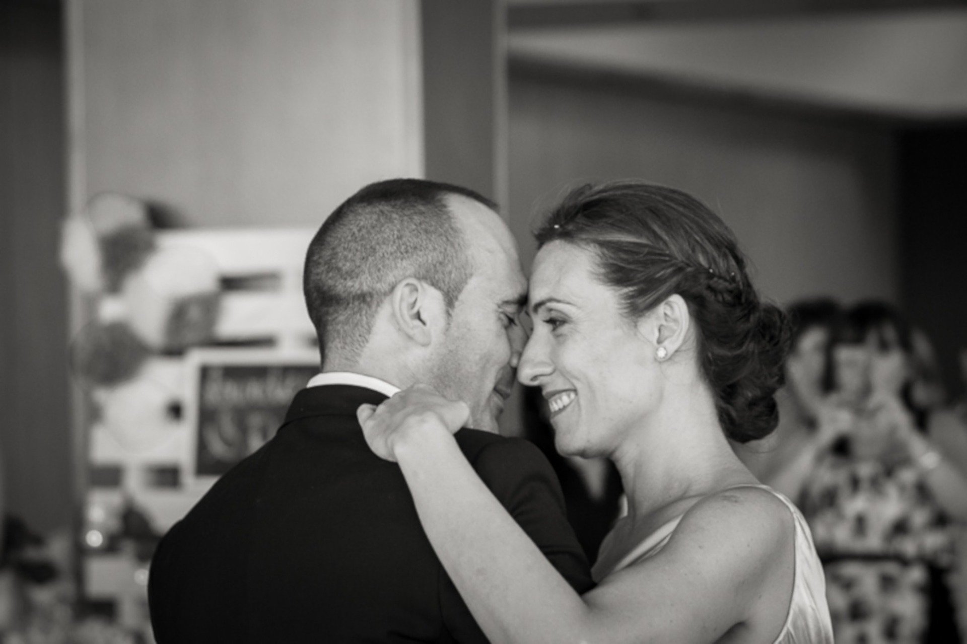 bride and groom dancing to reception music