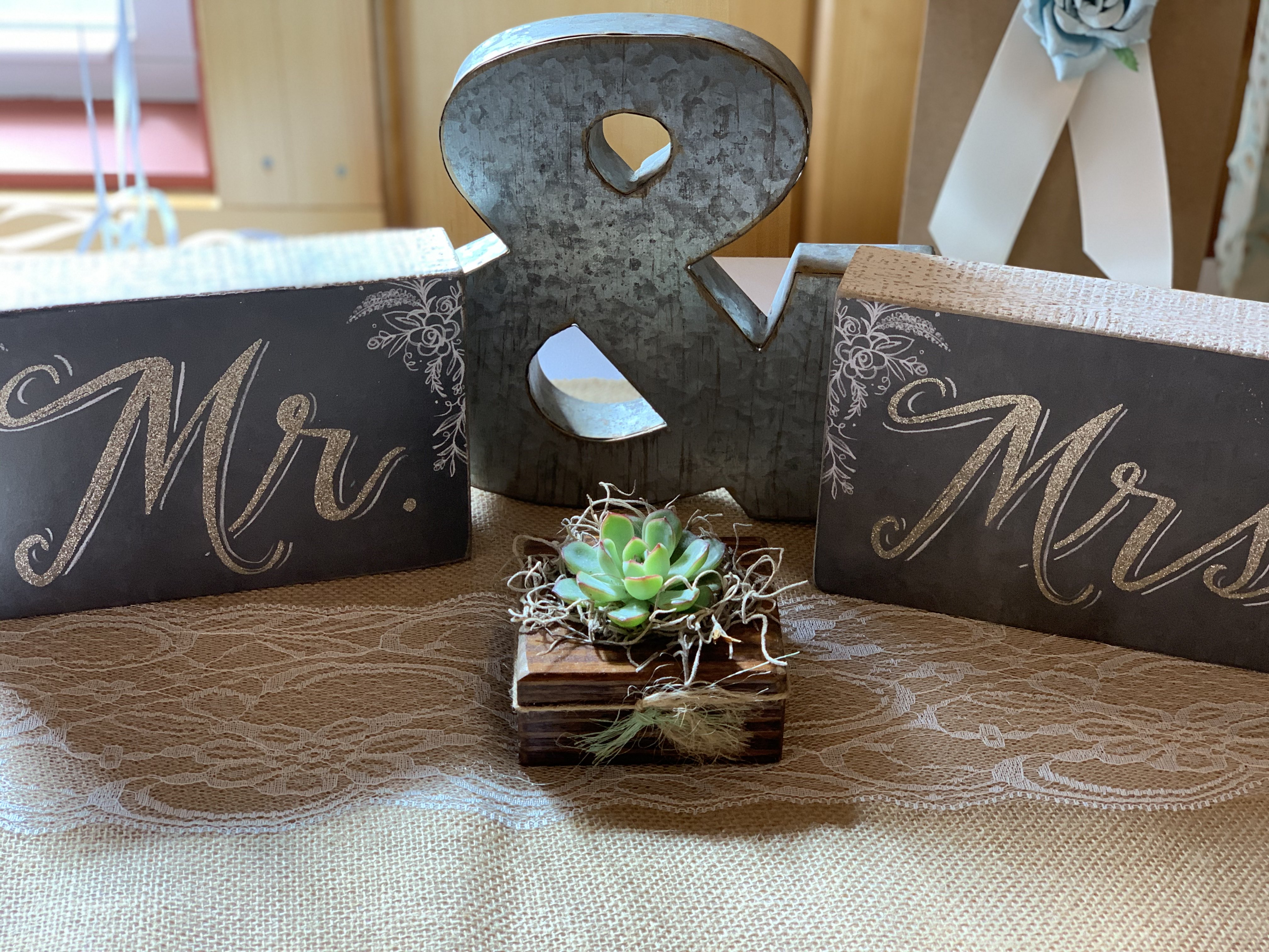 succulent wedding shower decor