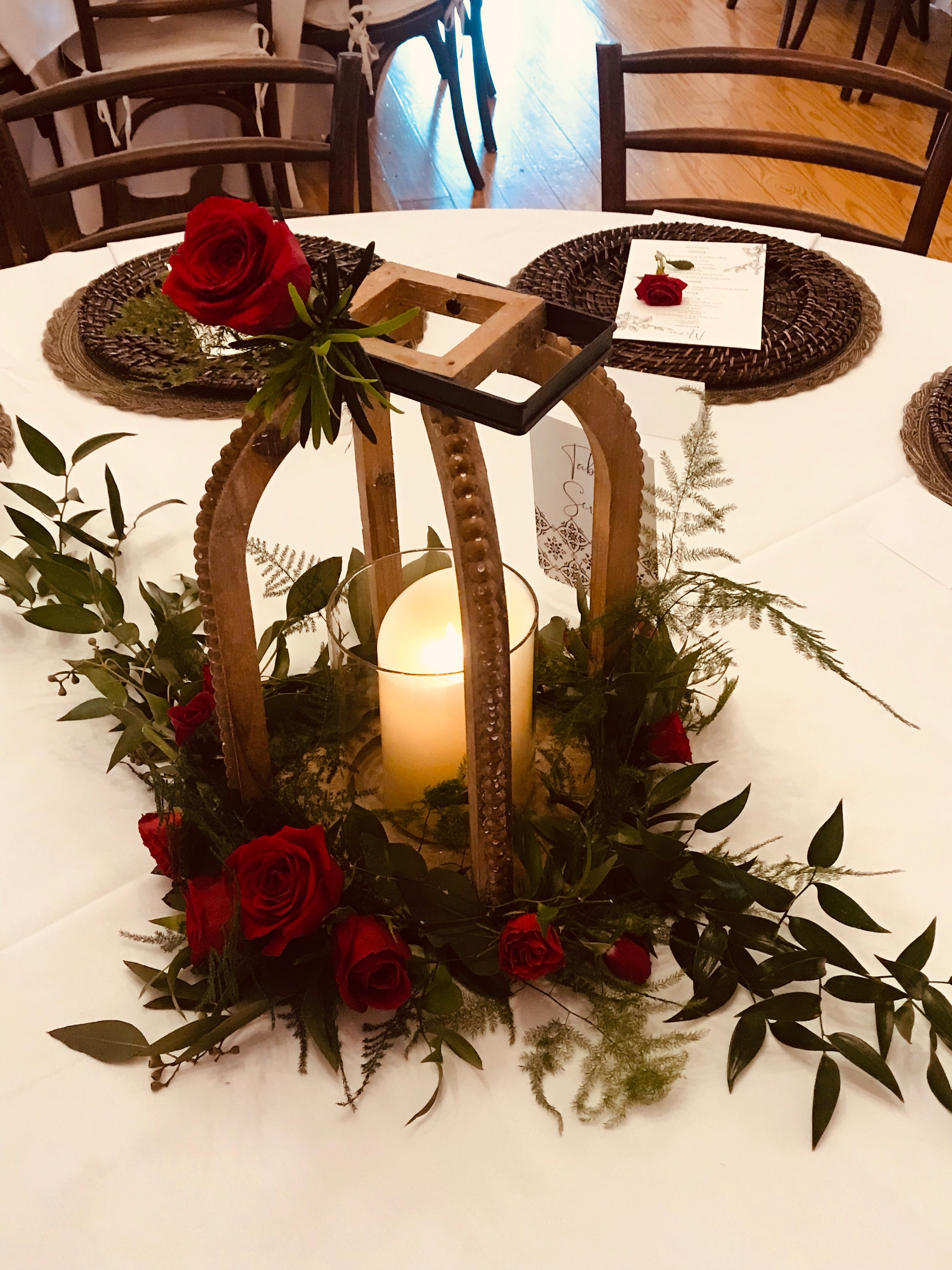 Wedding decorations at The 228 in Sterling