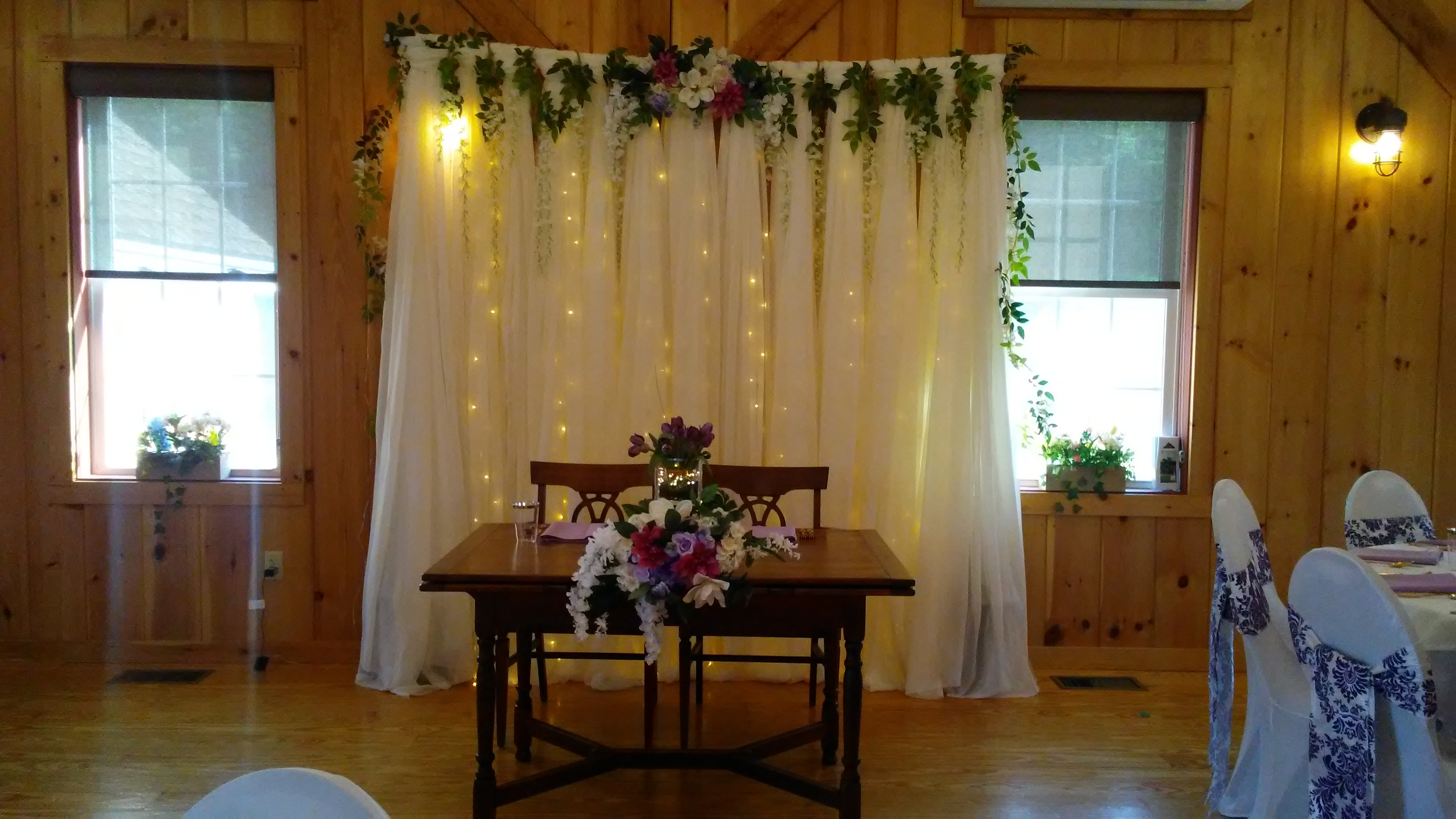 decorations for a wedding reception at The 228